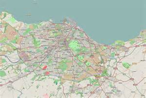 road map with cities maps of edinburgh detailed map of edinburgh in