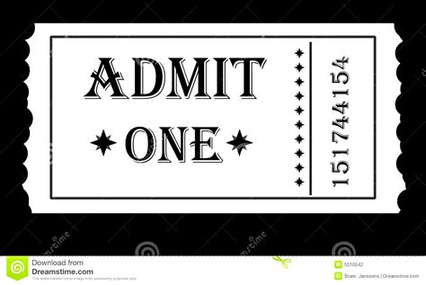 Admit One Ticket Template Exle Mughals Admit One Invitation Template
