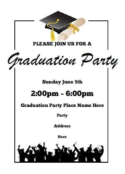 graduation invitation card template word free printable graduation announcements