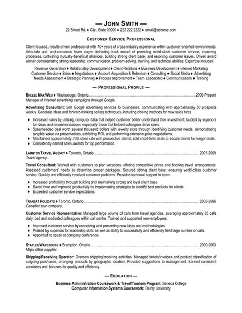 Exles Of Resumes For Customer Service by Customer Service Resume Format Roiinvesting