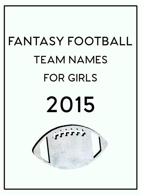 fantasy football league names football team names fantasy football and names for girls