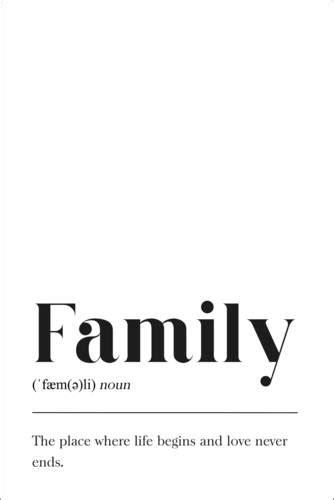 Póster Family (definição em inglês) de Pulse of Art