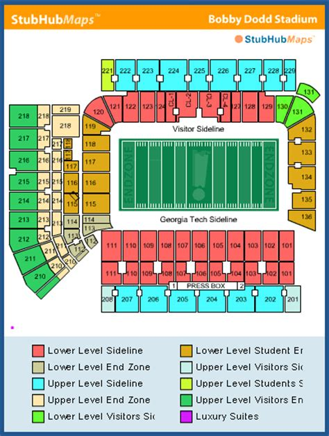 tech stadium seating capacity tech football bobby dodd stadium espn