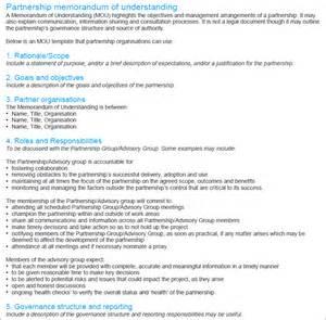Mou Template Partnership Agreement memorandum of understanding templates mou templates