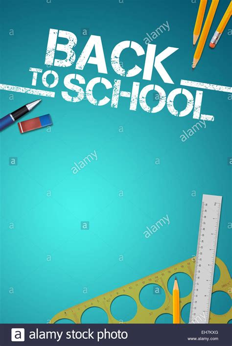 back to school background back to school advert background with empty space stock