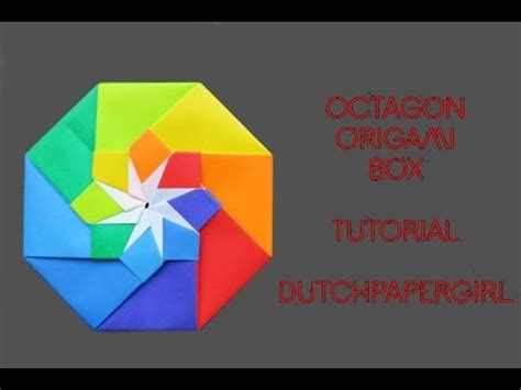 How To Make An Octagon Out Of Paper - octagon origami box tutorial dutchpapergirl