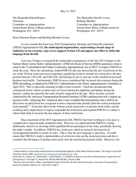 Parent Letter Gi Bill Coalition Letter To House Appropriations Committee On Hours Of Servic
