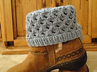 pattern cuff jeans ravelry knit washed denim bee hive boot cuffs pattern by