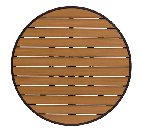 outdoor table top 36 quot synthetic teak commercial outdoor table top with