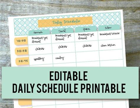 free printable daily planner for moms daily schedule hourly printable editable planner for moms