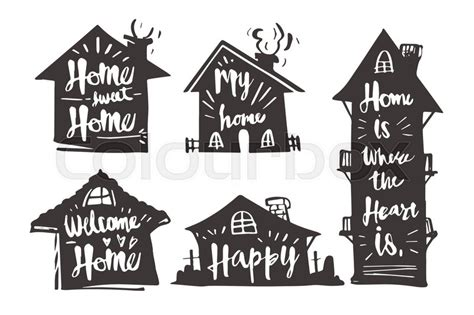 Sweet Home 3d House Design Hand Drawn Caligraphy In Silhouette House Home Sweet Home