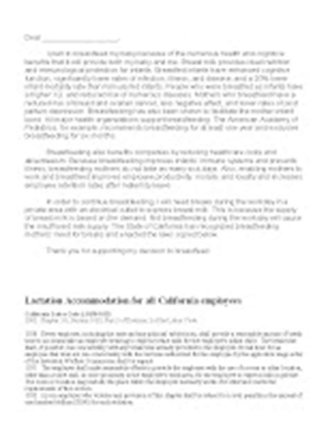 Support Letter For Wic Working Letter To Employer