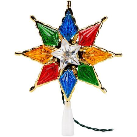 christmas tree toppers at walmart time 10 ul 8in tree topper mul walmart