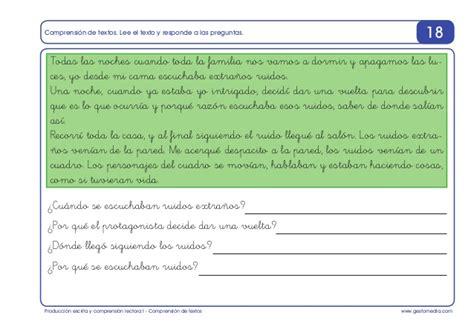 la misma luna preguntas de comprension estimular los procesos de lectura y escritura 7