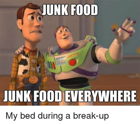 Food Picture Meme - unk food junk foodeverywhere quick meme com my bed during