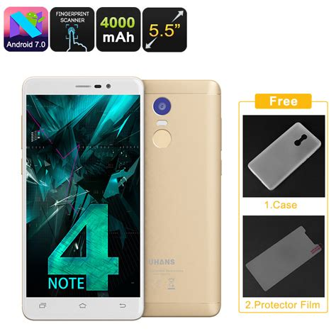 android note uhans note 4 android smartphone gold
