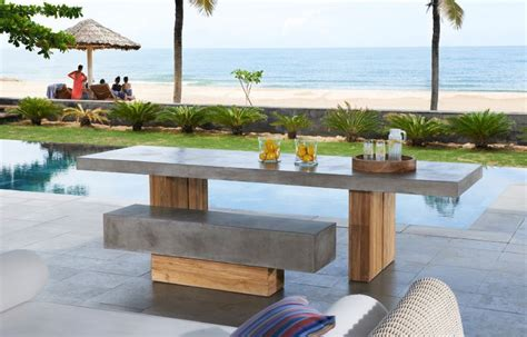 esszimmer le beton salon de jardin teck mod 232 les et conseils pour faire le