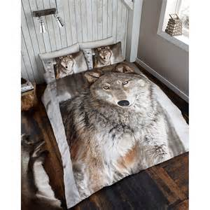 Dog Bedding Set Photographic Animal Double Duvet Set Wolf Bedding Bed Set