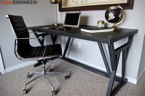 Diy Office Desk Plans Truss Desk 187 Rogue Engineer
