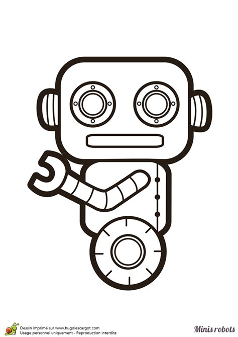 Coloriage D Un Mini Robot Qui Se D 233 Place Sur Son Unique