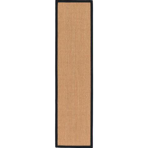 10 x 2 5 rug unique loom sisal light brown 2 5 quot x 10 runner rug
