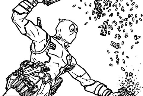 deadpool coloring deadpool bullet coloring page wecoloringpage