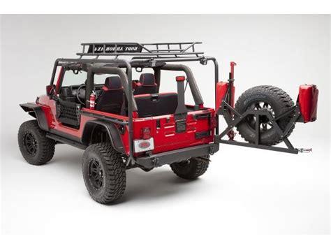 jeep body armor bumper body armor formed rear bumper tire carrier for 87 06