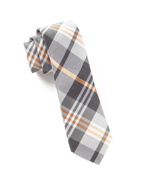 grey wave plaid tie ties bow ties and pocket