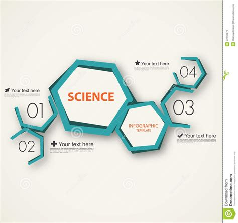 template ppt science free science infographic template stock vector image 42396872