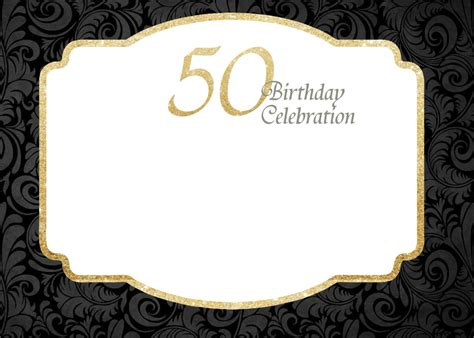 50th birthday card template free printable 50th birthday invitations template free