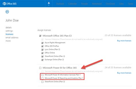 Office 365 License by Power Bi Admin No Power Bi For Office 365 License