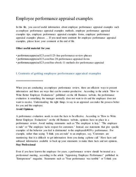 Appraisal Air Letter sle performance appraisal for a just b cause