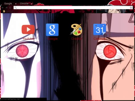 theme google chrome sasuke itachi sasuke chrome theme themebeta