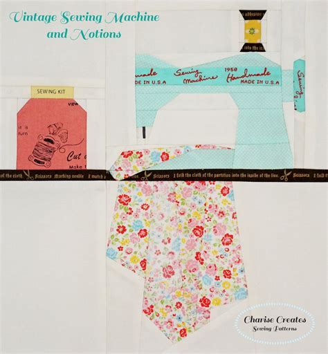 Pattern Paper For Sewing - charise creates vintage sewing machine and notions paper
