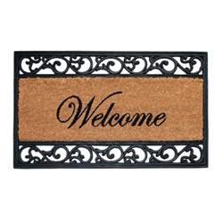 Rubber Welcome Door Mat Trafficmaster Welcome 18 In X 30 In Coir And Rubber Door