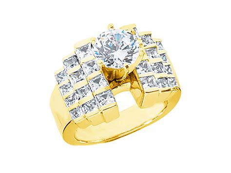 Wedding Ring Kl by 2 50ct Princess Staircase Engagement Ring