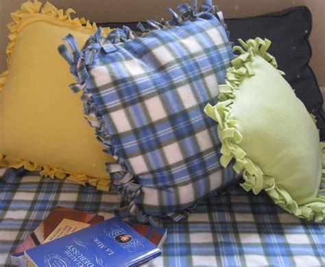 No Sew Fleece Pillow by Crafts Easy No Sew Fleece Pillows
