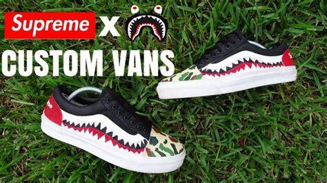Supreme X Bape supreme x bape vans custom