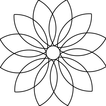 12 petal flower template 25 images of 12 petal flower template leseriail