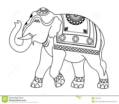 thai elephant coloring page thai elephant coloring pages