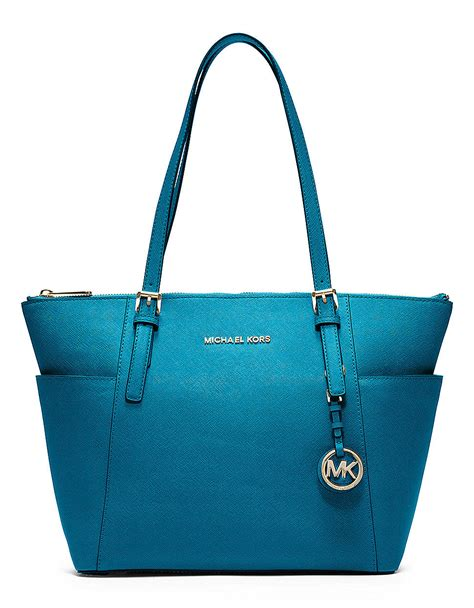 michael michael kors jet set east west leather tote bag in
