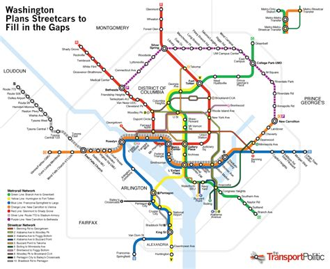 washington dc map subway your city s transit vision regional transportation