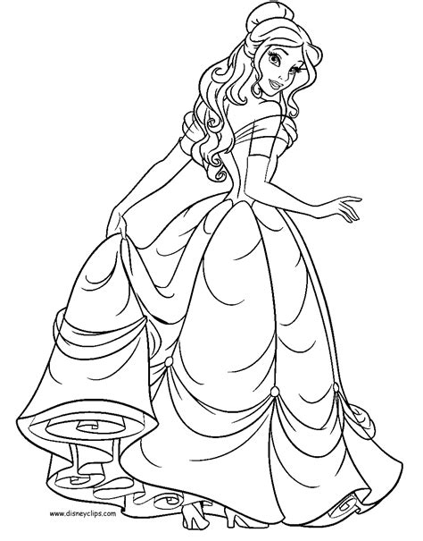 belle dress coloring page beauty and the beast coloring pages 2 disney coloring book