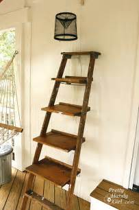 White Ladder Bookcase With Drawers Guest Post How To Build Ladder Shelves Centsational Style