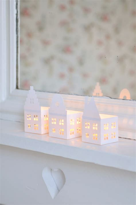 printable paper house luminaries all things paper miniature paper houses round up