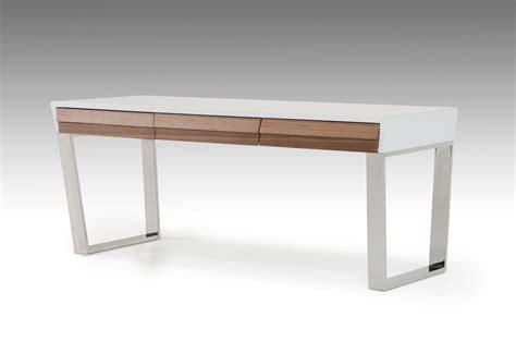 Walnut Office Desk by Modrest Futuro White And Walnut Office Desk