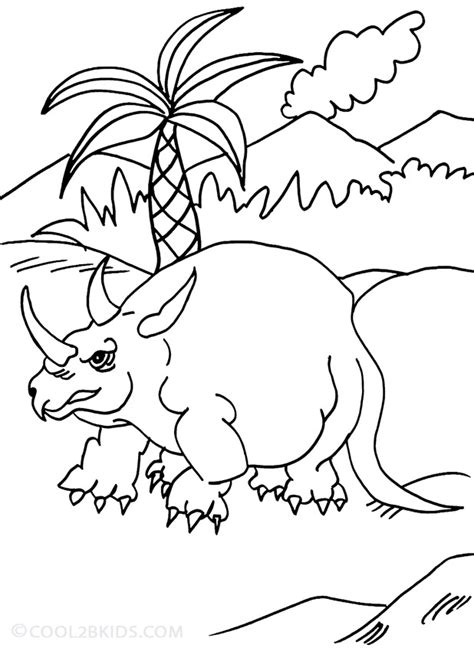 Printable Triceratops Coloring Pages For Kids Cool2bkids Triceratops Coloring Page