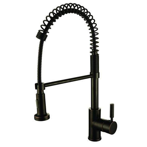 kitchen faucet oil rubbed bronze y decor foreman single handle pull out sprayer kitchen