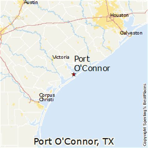 port texas map best places to live in port o connor texas