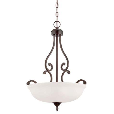 bronze glass pendant millennium lighting 3 light rubbed bronze pendant with